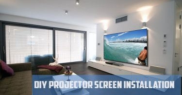 projector screen installation