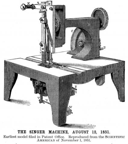 how invented the sewing machine